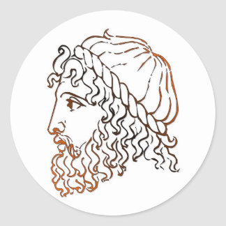 Roman Heads Classic Round Sticker