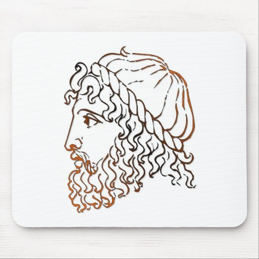 Roman Heads Mouse Pad