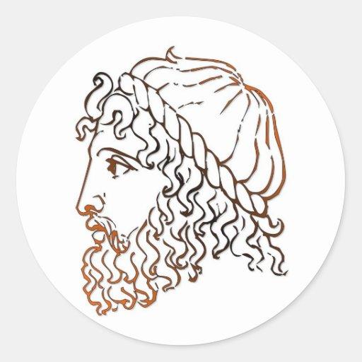Roman Heads Stickers