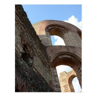 Roman Imperial Baths Trier Postcard