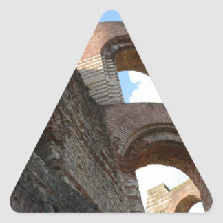 Roman Imperial Baths Trier Triangle Sticker