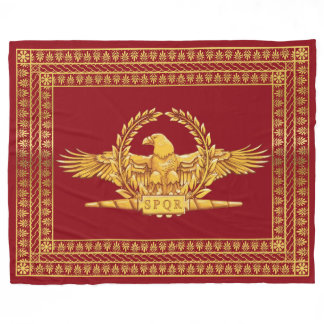 Roman Imperial Eagle SPQR Fleece Blanket
