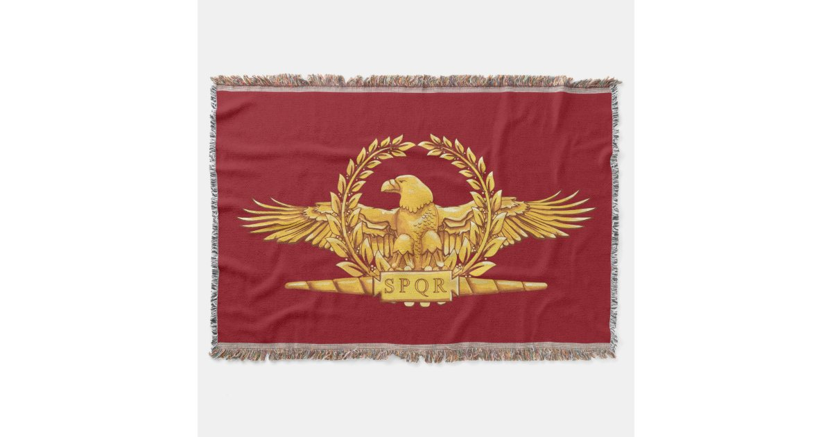 Roman Imperial Eagle Spqr Throw Zazzle Com