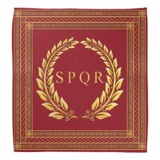 Roman Imperial SPQR and Laurel Bandana