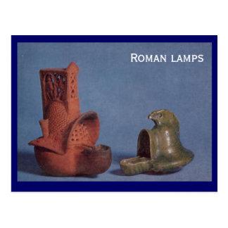 Roman lamps postcard
