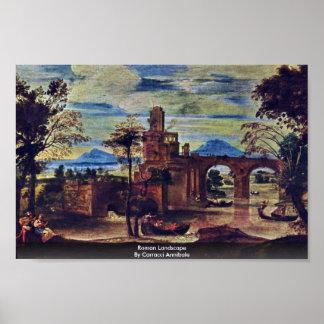 Roman Landscape By Carracci Annibale Print