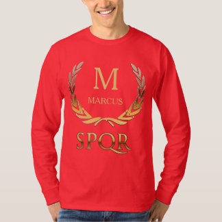 Roman Laurel Wreath Custom Monogram T-shirt