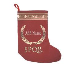 Roman Laurel Wreath Small Christmas Stocking