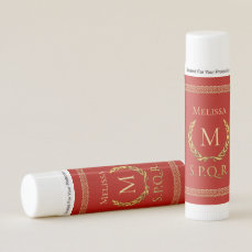 Roman Laurel Wreath With Custom Monogram Lip Balm