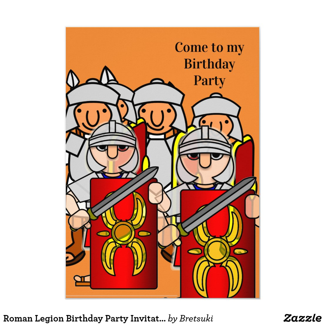 Roman Legion Birthday Party Invitation