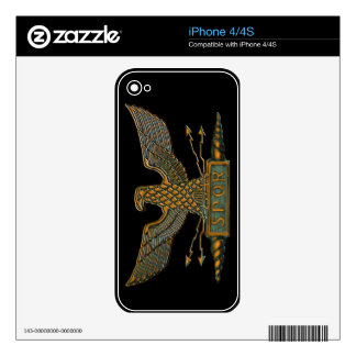 Roman Legion Eagle Copper Iphone skin Decals For iPhone 4S