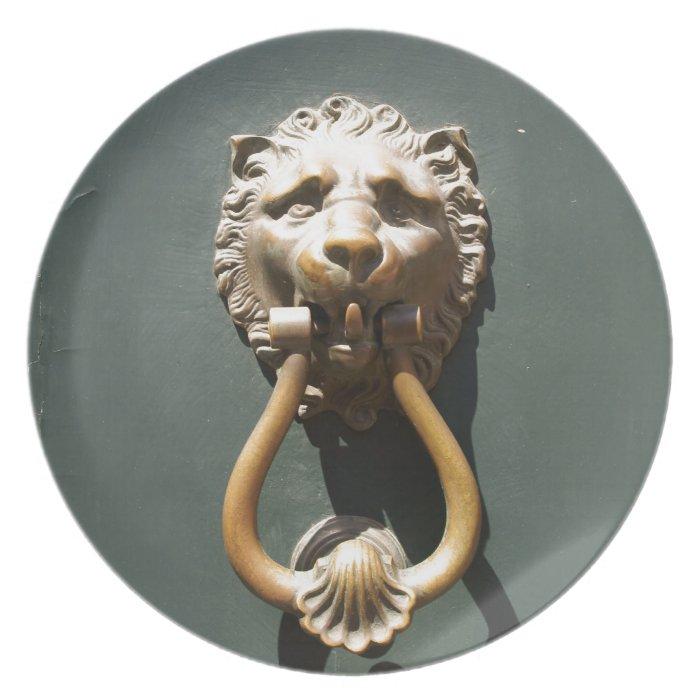 Roman Lion Doorknocker Party Plate