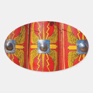 Roman Military Shield - Scutum Oval Sticker
