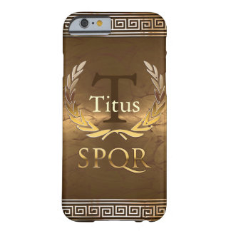 Roman Monogram Barely There iPhone 6 Case