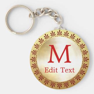 Roman Monogram Keychain