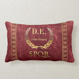 Roman Monogram Lumbar Pillow
