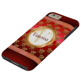 Roman Monogram Tough iPhone 6 Plus Case
