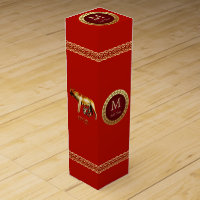 Roman Monogram\ Wine Box