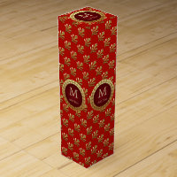 Roman Monogram\ Wine Gift Box