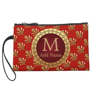 Roman Monogram Wristlet