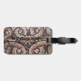 Roman Mosaic Travel Bag Tags
