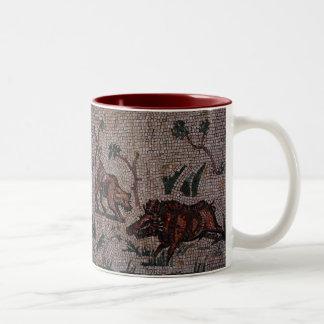 Roman Mosaic Two-Tone Coffee Mug