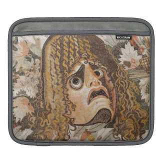 Roman mosaic, with mask, leaves and fruit iPad sleeve
