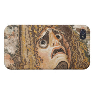 Roman mosaic with mask leaves and fruit iPhone 4 cases