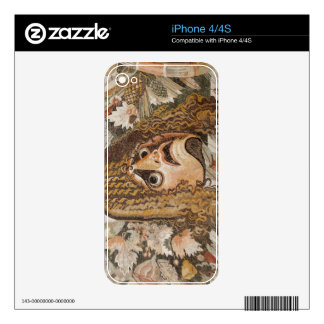 Roman mosaic, with mask, leaves and fruit skin for the iPhone 4S