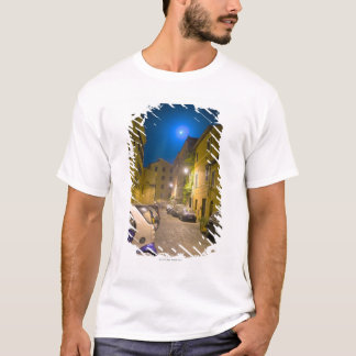 Roman neighborhood street at night T-Shirt