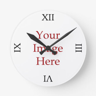 Roman Numeral Create Your Own Round Wall Clocks