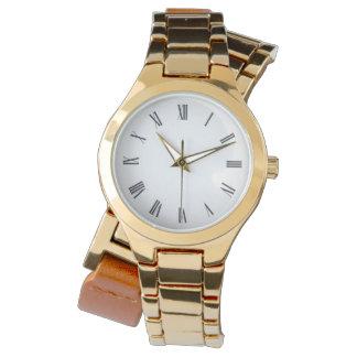 Roman Numeral Gold Wrap-Around Watch