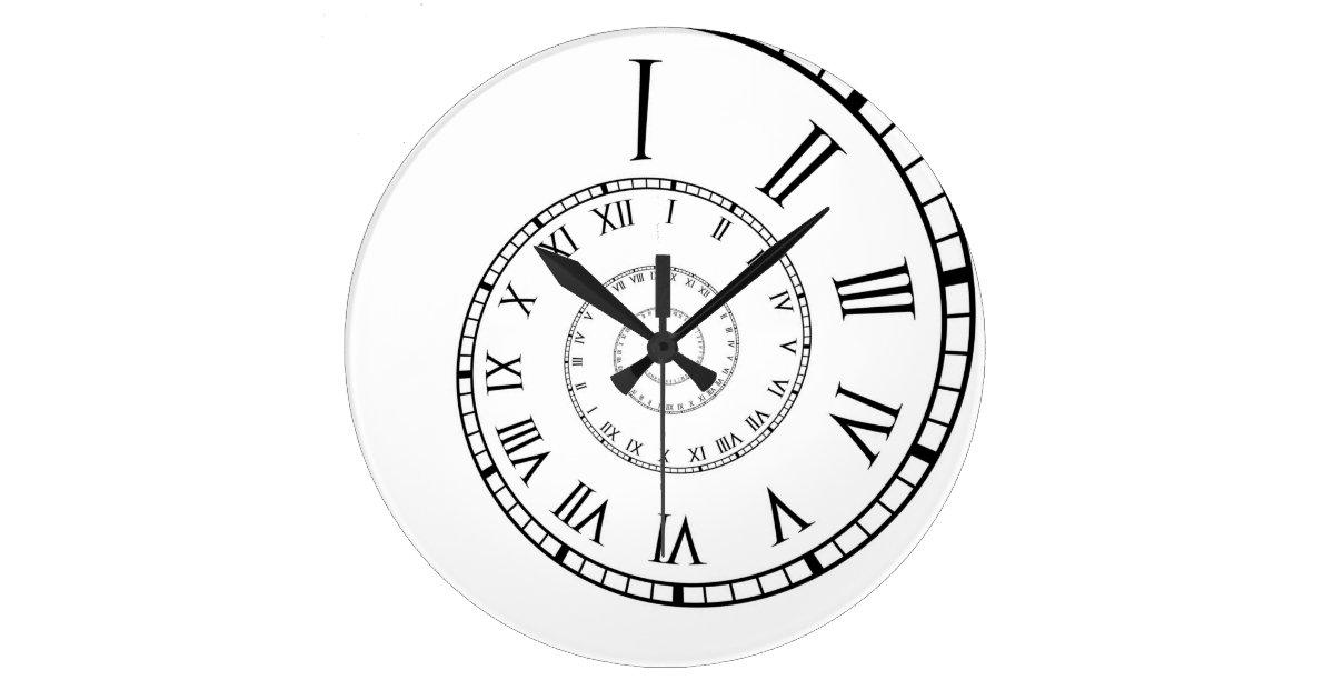 Roman Numeral Spiral Clock Zazzle Com