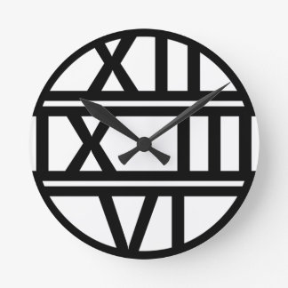 Roman Numerals Art Deco Round Clock