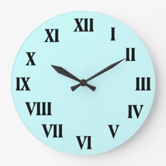 Roman Numerals Clock with Customizable Background