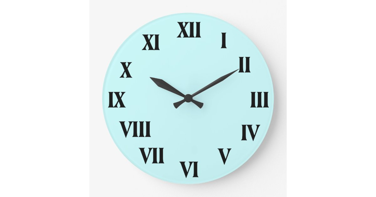 Roman Numerals Clock With Customizable Background Zazzle Com