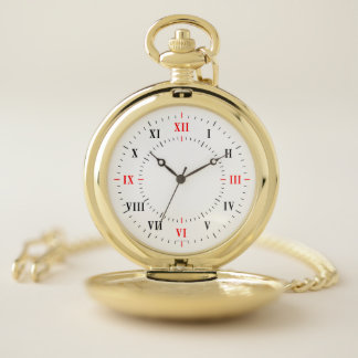 Roman Numerals Pocket Watch