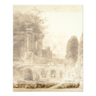 Roman Park with Fountain by Jean-Honore Fragonard Flyer