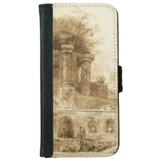 Roman Park with Fountain by Jean-Honore Fragonard iPhone 6 Wallet Case