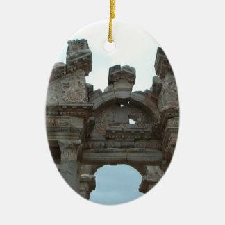 Roman Pediment Ceramic Ornament