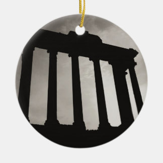 roman pillars ceramic ornament