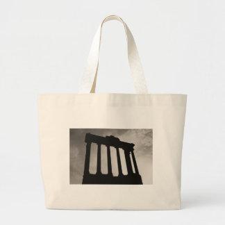 roman pillars large tote bag