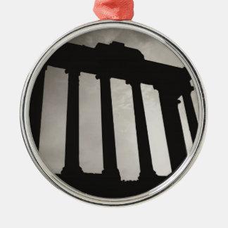 roman pillars metal ornament
