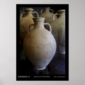 Roman pottery  poster