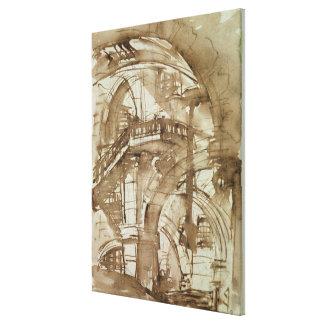 Roman Prison c 1744-5 Gallery Wrap Canvas