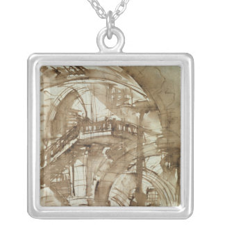 Roman Prison, c.1744-5 Silver Plated Necklace