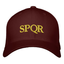 Roman Republic SPQR Embroidered Baseball Cap