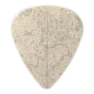 Roman roads and battlefields acetal guitar pick