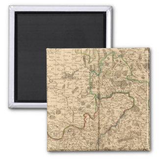 Roman roads and battlefields magnet