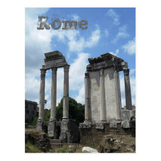 Roman Ruins Ancient Columns Rome Italy Monument Postcard